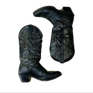 Wrangler 7M cowboy boots 5100 black leather